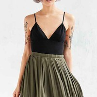 Silence + Noise Chiffon Pleated Mini Skirt