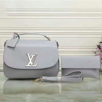 LV Women Fashion Shopping Leather Chain Satchel Shoulder Bag Crossbody Two Piece G-LLBPFSH