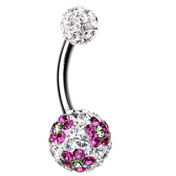 Flower Delight Sparkling Belly Button Ring