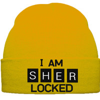 I AM SHER LOCKED BEANIE WINTER HAT
