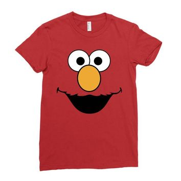 Cookie Monster Elmo Ladies Fitted T-Shirt