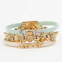 Women's Glitz Bracelet Setin Green/Gold/Cream by Daytrip.