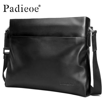 High Quality Cow Leather Men's  Shoulder Bags Genuine Leather Crossbody Bags for Male Casual Messenger Bags