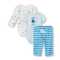 Baby Boys Long and Short Sleeve Whale Bodysuits and Pants 3-Piece Playset | The Children's Place