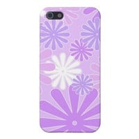 Violet florals - iPhone case