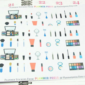Makeup Planner Sticker for Erin Condren Life Planner (ECLP) Sticker