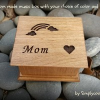 Wooden Music Box - Mom Gift Box - Custom Music Box - Personalized Music Box - Mom Gift From Son - Mother of Groom Gift -