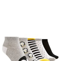 Penguin Ankle Socks - 5 Pack