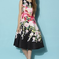 The Flowers Banquet Midi Dress