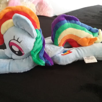 My Little Pony Fanart RAINBOW DASH beanie plushie minky travel budy cute and soft floppy animal