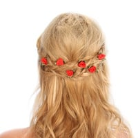 Rose Bud Hair Grips