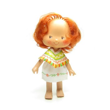 Cafe Ole Strawberry Shortcake Doll with Red Hair, Poncho - Mexican International Friends Series