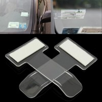 DEDC 2PCS Car Parking Ticket Holder Clip Automotive Internal Organizer Car Styling For Car windshield Fastener Stickers
