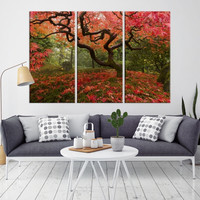 45969 - Forest Wall Art- Autumn Canvas Print- Forest Canvas- Forest Canvas Art- National Art Print- Canvas Print- Large Wall Art-