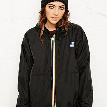 K-Way Claudette Waterproof Jacket in Black - Urban Outfitters