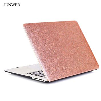 JUNWER 2017 New  Luxury Shining Hard Case For Apple Macbook Air Pro Retina 11 12 13.3 15  Laptop Bag for Mac book air 13 Cover