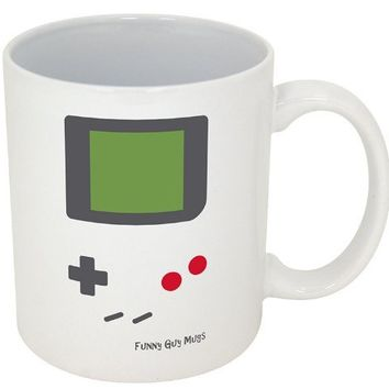 """Funny Coffee Mugs~ Novelty Ceramic Mugs~ """"Coffee Makes Me Poop""""~ """"F*ck Cancer""""~ """"Do Epic Shit""""~ """"Decaf Is For Pussies""""~ """"That's What She Said""""~ """"World's Best Boss""""~ Official Funny Guy Mugs!! (11oz, Old School Gamer)"""