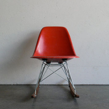 Eames For Herman Miller Fiberglass Side Chair Rocker RSR