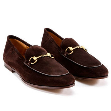 Gucci Brown Suede Horsebit loafer
