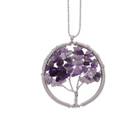 Chakra Wisdom Tree  of Life Necklaces  Citrine Amethyst Opal Agate