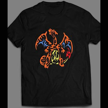 TRIBAL CHARIZARD CUSTOM POKEMON ART T-SHIRT