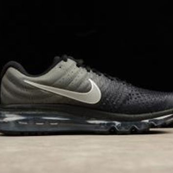 Nike Air Max 2017 GS Black Summit White Anthracite & Metallic Silver Women's Running