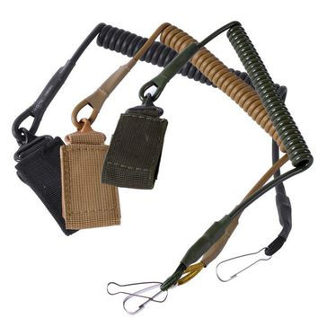 Airsoft Tactical Two Point Pistol Handgun Spring Lanyard Sling Quick Release Shooting Hunting Strap Army Combat Gear Accessories