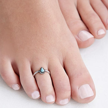 Etched Toe Ring Set