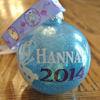 Personalized Frozen Themed Christmas Ornament