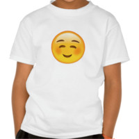 White Smiling Face Emoji Tshirt