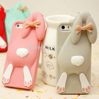 Cartoon 3D Soft Cute Silicone Rabbit Case For iPhone 5 5S SE 5SE 4 4S 6 4.7 Plus 5.5 Lovely Rabito Phone Back Cover