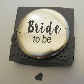 BRIDE TO BE METALLIC SILVER 58mm PIN BADGE for Hen Party Night | eBay