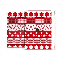 The Red and White Christmas Pattern Skin Set for the Apple iPad Air 2