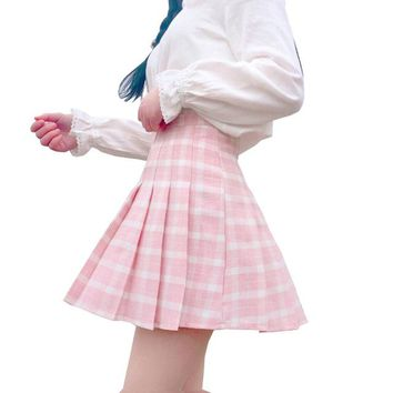 Harajuku Women Skirt Preppy Style Pleat Skirts Japanese Mini Cute School Uniforms Saia Faldas Ladies Jupe Kawaii Skirt SK9508