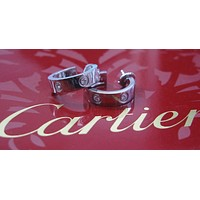 Cartier 18Kt Love Diamond Earrings 6-Diamond White Gold
