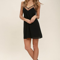 Go for Bold Black Slip Dress