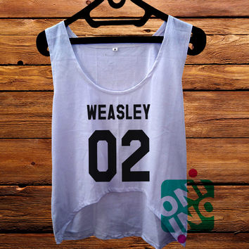 Ron Weasley Crop Tank Women's Cropped Tank Top