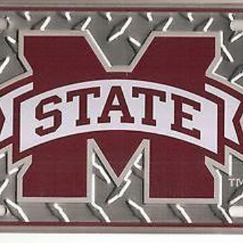 Mississippis State Bulldogs Metal Car Tag Automobile Diamond License Plate