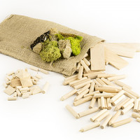 Wood Fort Kit, Includes Small Bag of Reindeer Moss