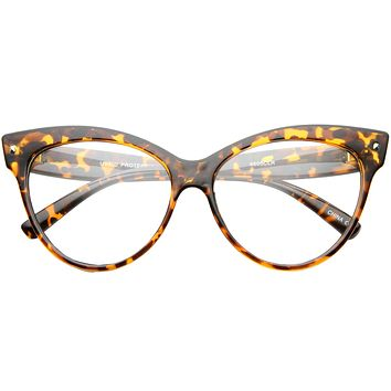 c692c6c7c531 Women's Retro 1950's Cat Eye Clear Lens Glasses A099