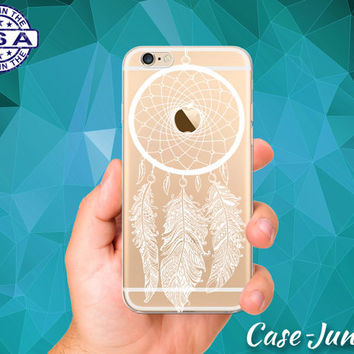 Dreamcatcher Feather Dream Catcher White Tumblr Clear Case For iPhone 5/5s, iPhone 5C, iPhone 6 and iPhone 6 +, iPhone 6s, iPhone 6s Plus +