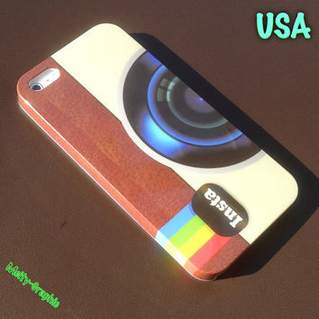Instagram iPhone 5 cover Instagram art full side printing case for iPhone 5