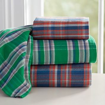 Fireside Plaid Flannel Sheet Set