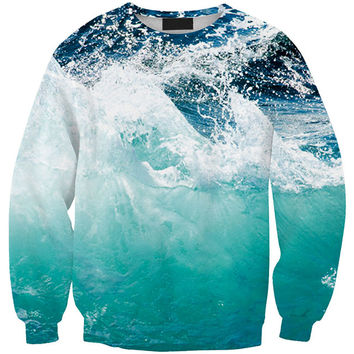 Snow Mountain 3D Print Long Sleeve Sweatshirt