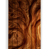 Tree On Wood for Iphone 4 / 4s Hard Cover Plastic