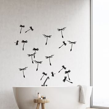 Vinyl Wall Decal Dandelion Petals Flower Plant Room Decoration Stickers (2731ig)