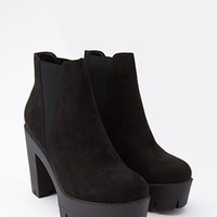 Faux Suede Zipped Booties