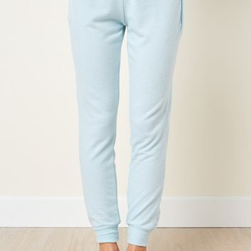 Make Yourself Comfortable Powder Blue Joggers