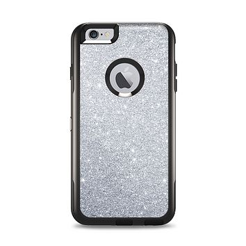 The Silver Sparkly Glitter Ultra Metallic Apple iPhone 6 Plus Otterbox Commuter Case Skin Set