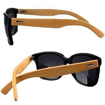 Bamboo Wood Sunglasses Brown / Black / Leopard Sunglasses Bamboo Leg Sunglasses